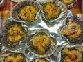 Gamberi in salsa di zafferano su un letto di Venere