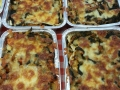 Lasagne di carrasau con verdure, prosciutto e mozzarella