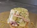 Tortino di polipo e pistacchi